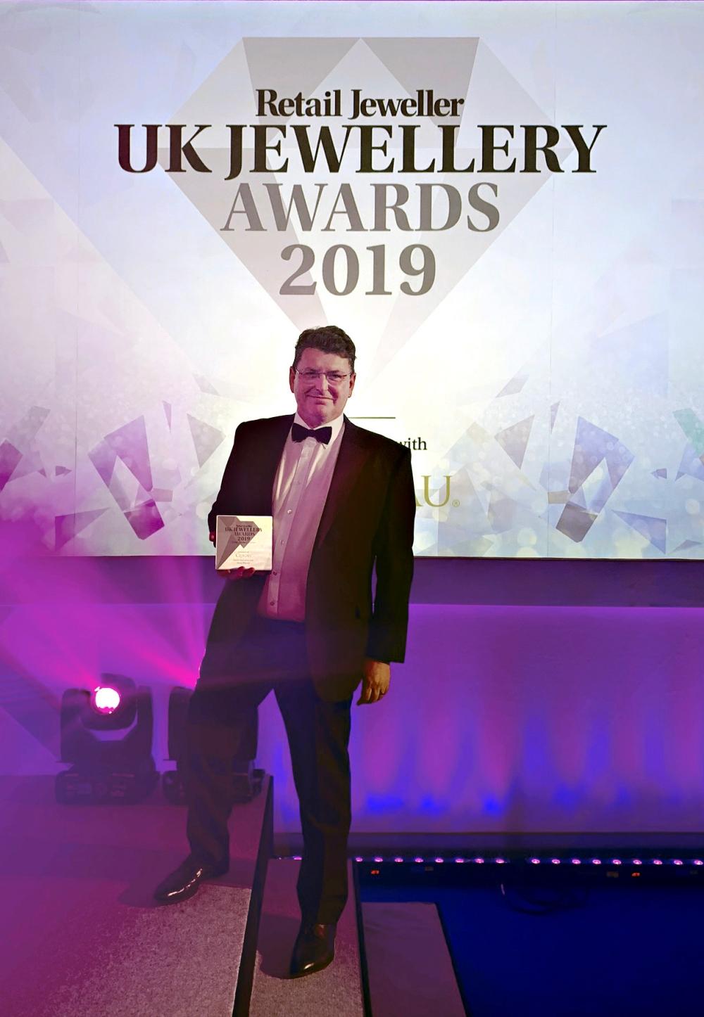 UKJA Peter with award